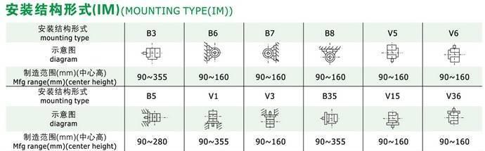 高效率三相異步電動機安裝形式