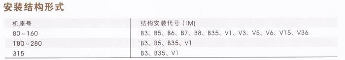 YD、YDT~315系列变极多速三相异步电动机安装结构