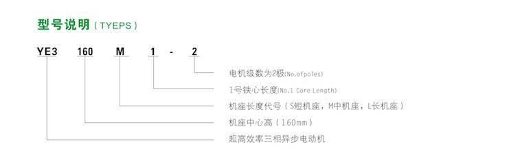 高效率三相異步電動機型號說明